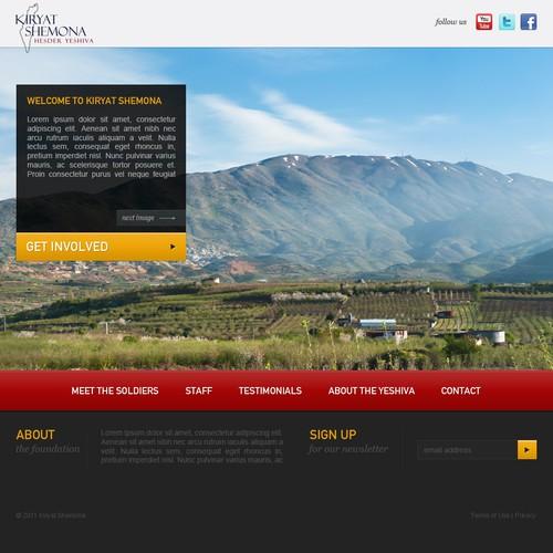 Help Kiryat Shemona Foundation with a new website design