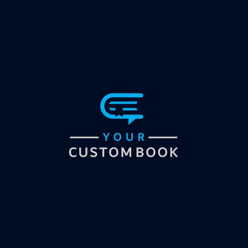 Logo for company which sell custom books