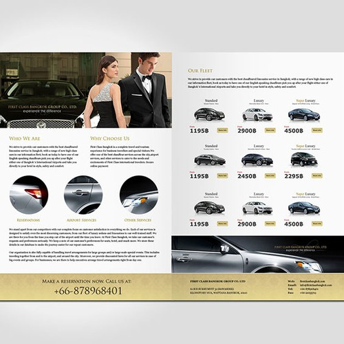 Top design for FIRST CLASS BANGKOK Limousine and luxury services