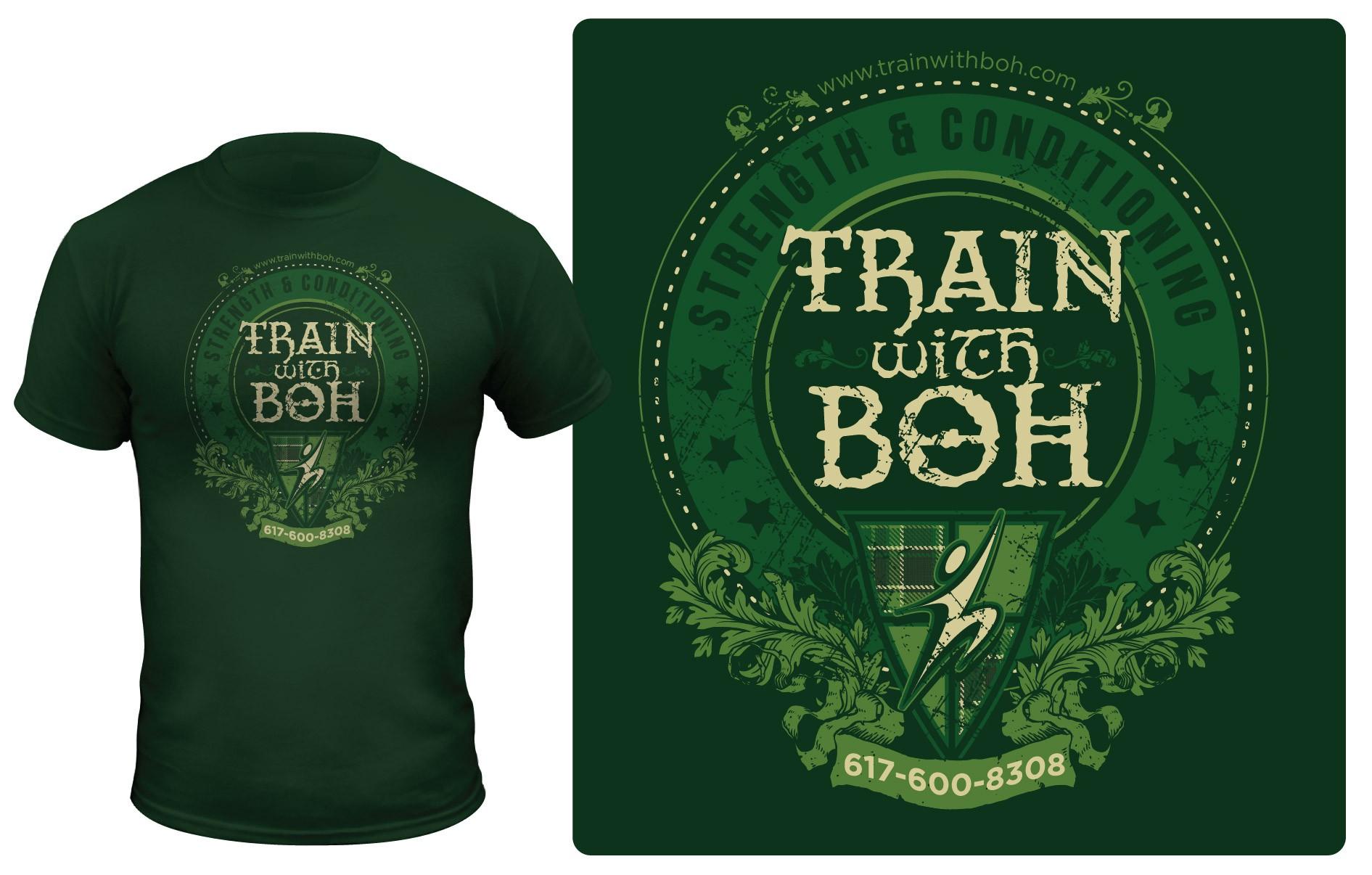 Create a Fitness Studio t-shirt w/ an Irish Pub theme!