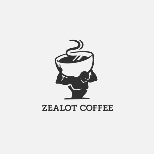 Logo concept for a strong coffee