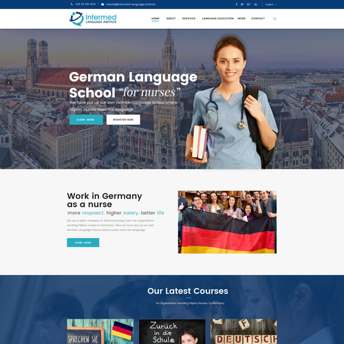 Website for Language school