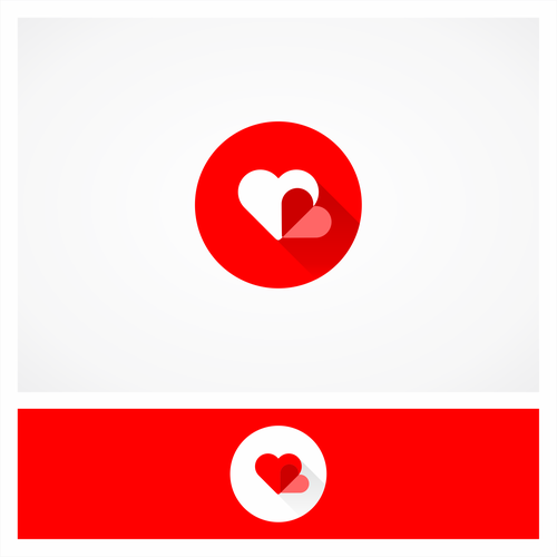 Flat Logo for Heart to heart