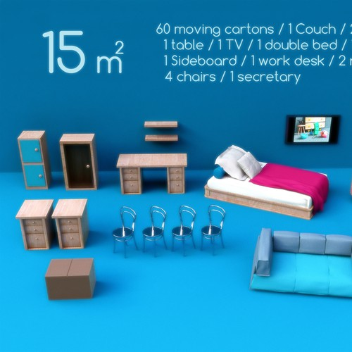 Creative design of pictures for storage customers (cubic information)