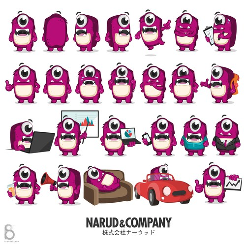 Mascot/Character Design Poses and Emotions