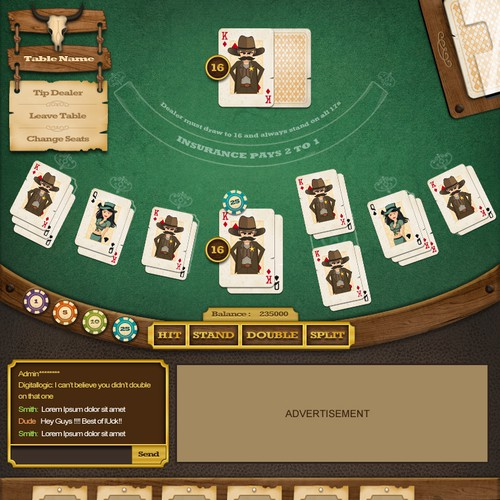 Wild West Blackjack needs a new app design