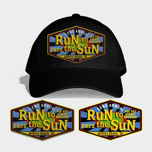 Winner - Run Sun Baseball Hat Patch