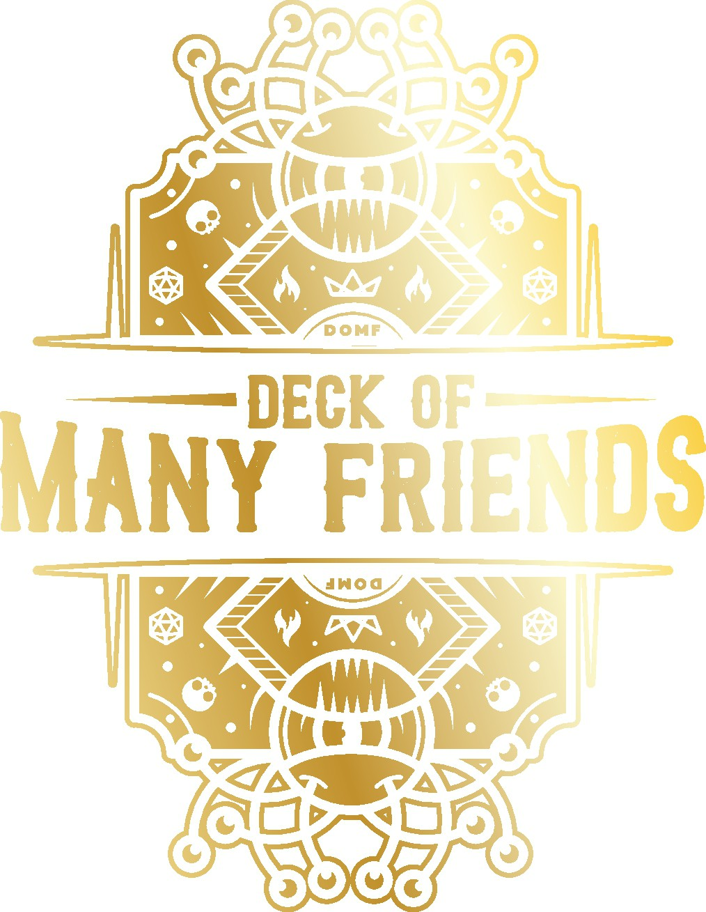 Deck of Many Friends Podcast Social Media Designs