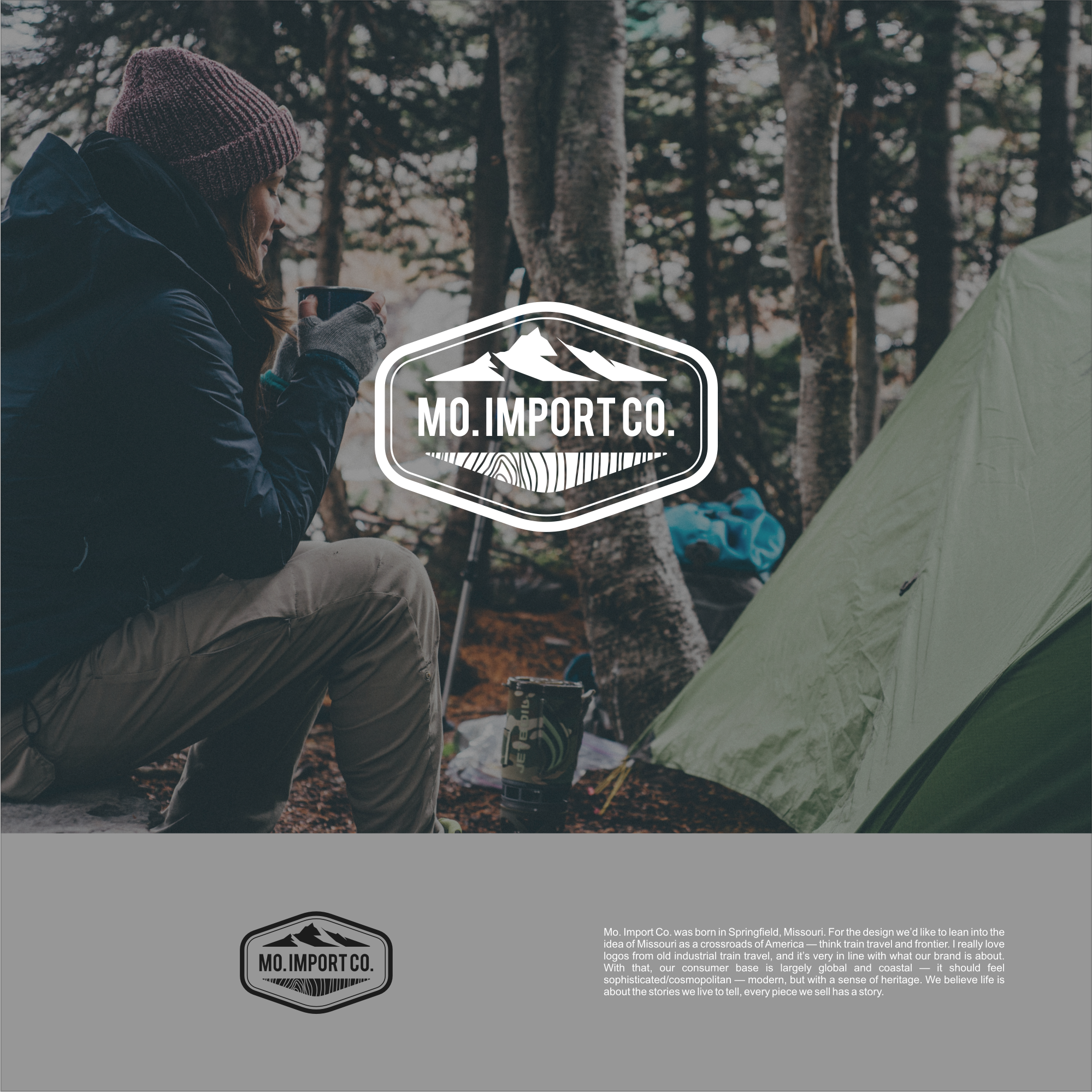 Create a logo for a goods retailer for urban outdoorsmen and slow living