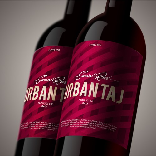 Logo Concept for a Modern Wine label Re-design