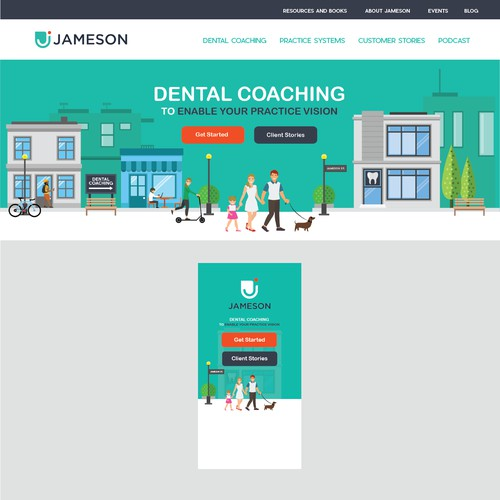 Website Banner Design Concept for Jameson