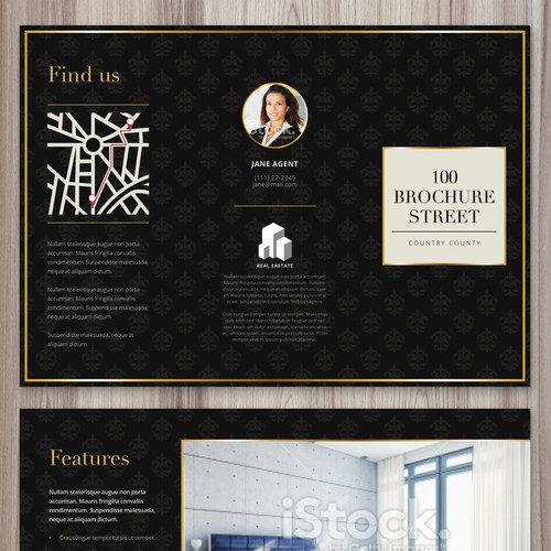 Tri-Fold Luxury Real Estate Brochure - Guaranteed!!