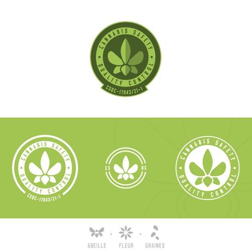 Organic logo for cannabis industry