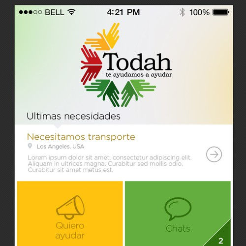 Mobile Application - Social Network of Favors & Aids