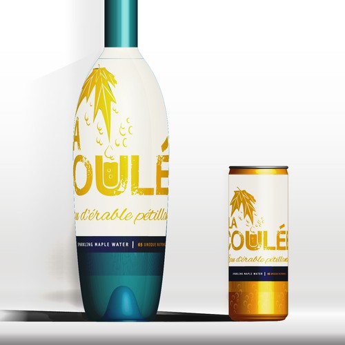premium sparkling water label