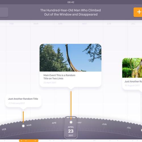 iPad Timeline App Concept