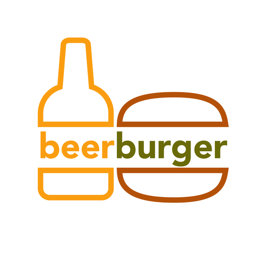 A Literal, Young and hip logo for BeerBurger