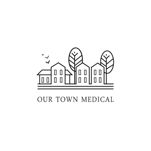 Clean, modern logo for Our Town Medical
