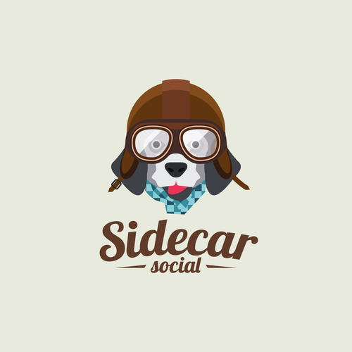 Playful logo with dog