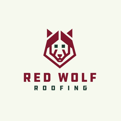 Red Wolf Roofing Logo