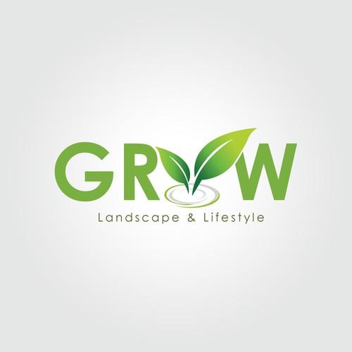 Logo Concept for Grow Landscape & Lifestyle
