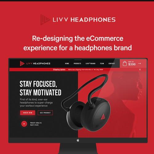 eCommerce experience design for unique Headphones brand