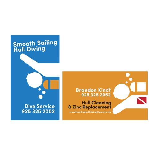 Business card concept for boat cleaning business
