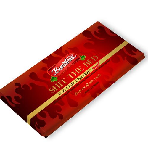 Embalagem para chocolate da Bunsters