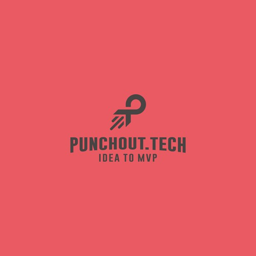 Powerful logo for startup acceleration program: PunchOut.Tech