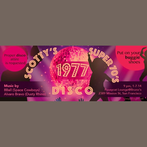 Flyer in disco style