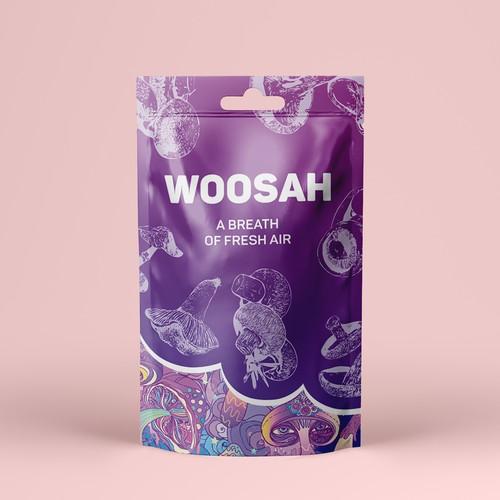 Packaging design for Woosah