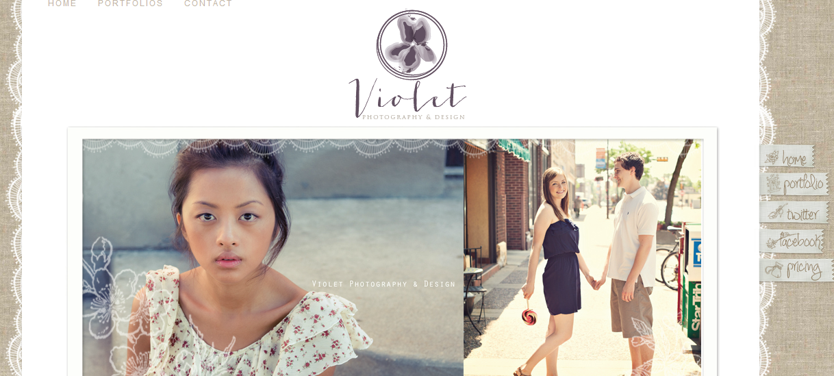Beat My Own Logo Designs | Violet Photography & Design