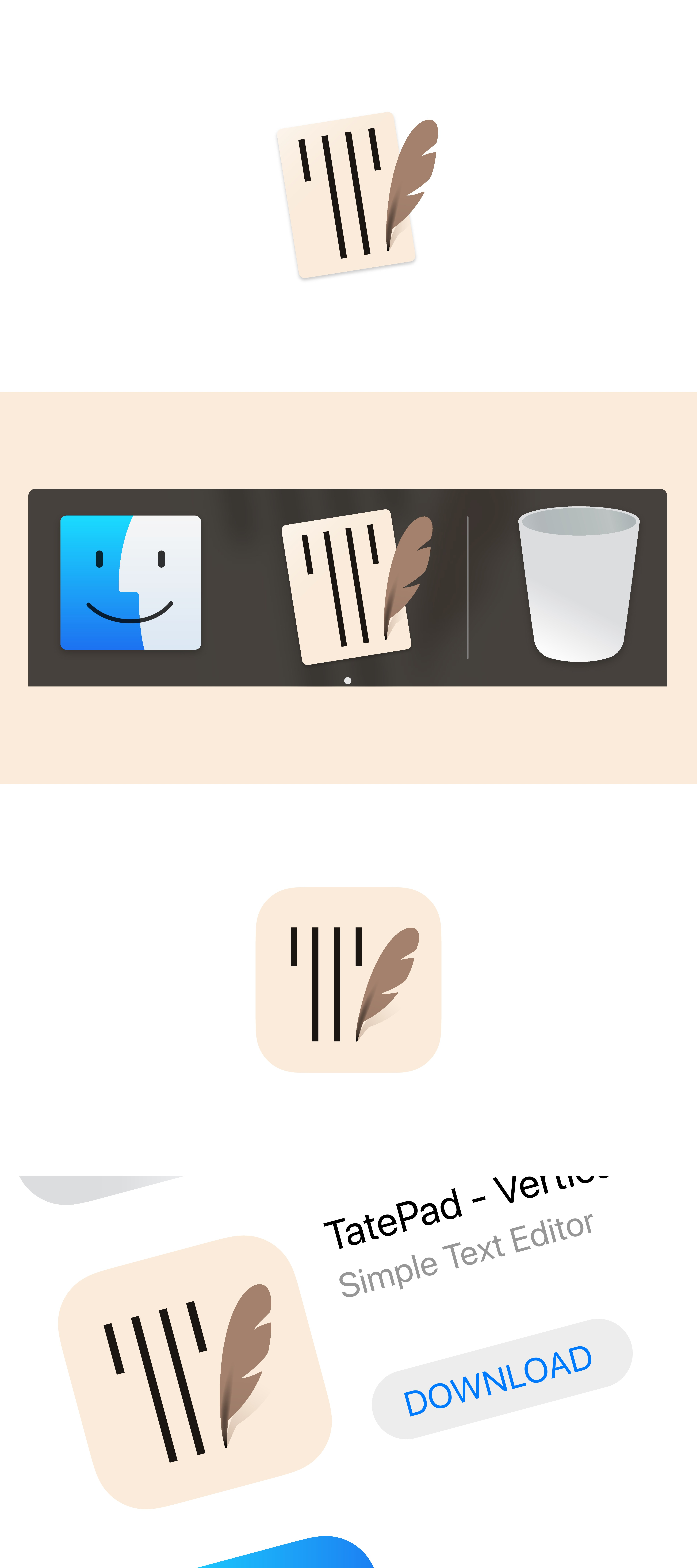 """App Icon for """"TatePad"""" -  Text Editor for Japanese Novel Writing"""