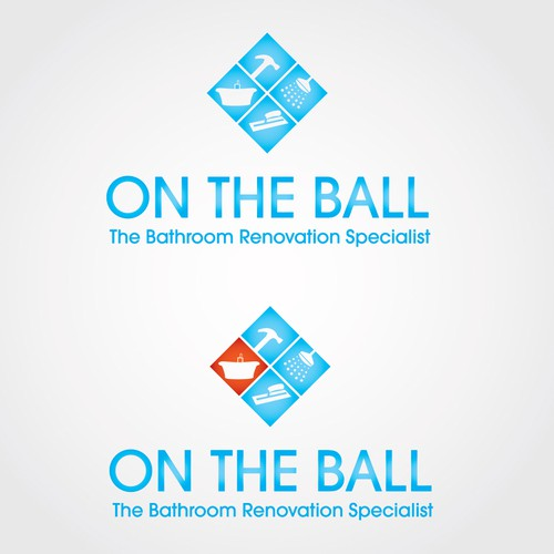 'On the Ball'  - Tiling & Renovations Specialists   new logo