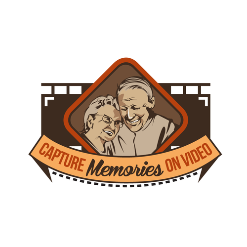 Create a logo that will help me 'Capture Memories on Video' for senior citizens