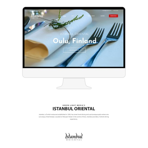 Simple website design for a restourant