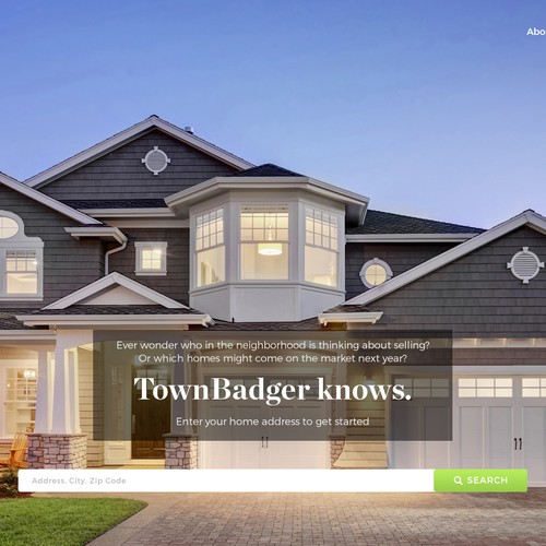Design home landing page for new residential real estate site