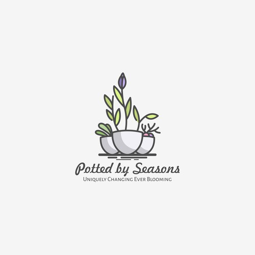 Logo for a company that helps highlight spaces with potted plants