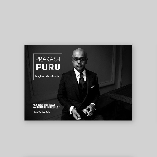 Portfolio for a Magician/Mindreader Prakash Puru