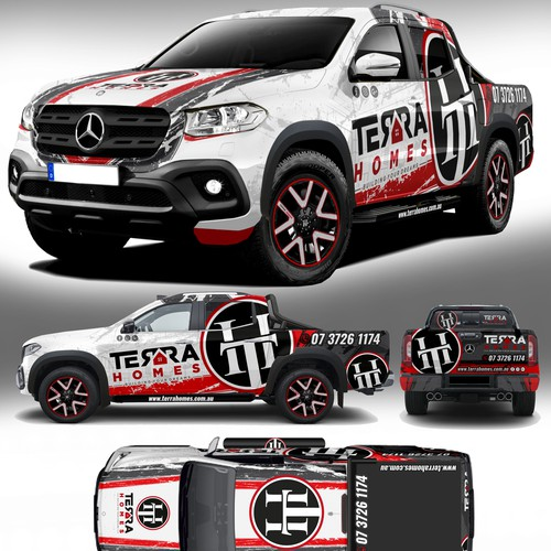 Very Attractive Truck Wrap Design