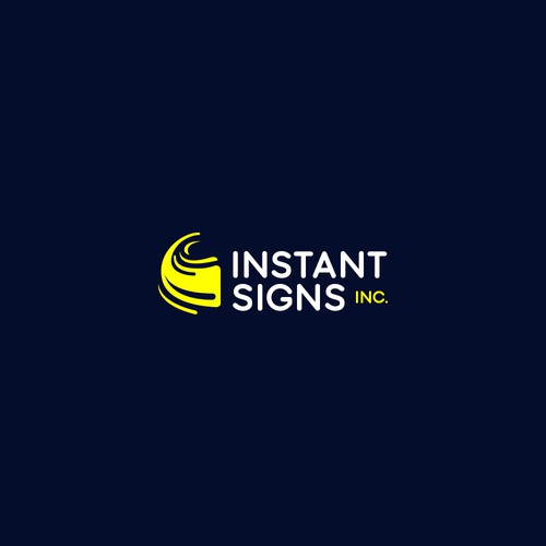 Bold and friendy logo for a signs company