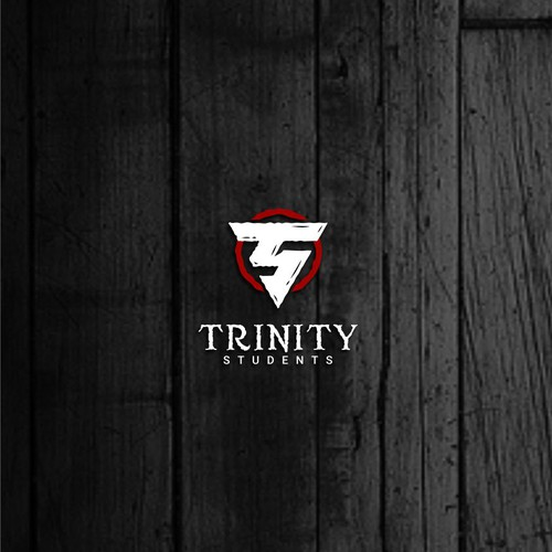 Masculine and rustic logo for our Trinity Students Youth Group