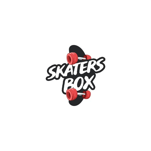 cartoon logo skate