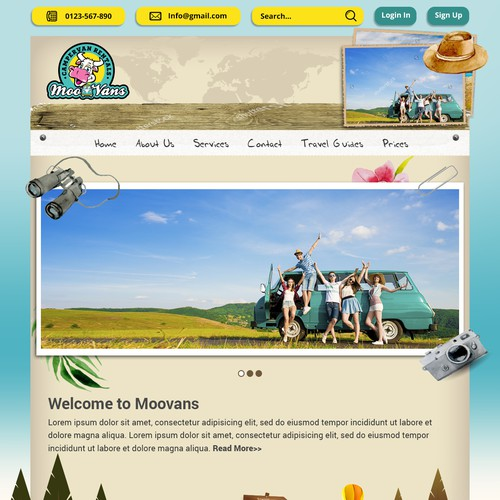Camping Van Creative Design