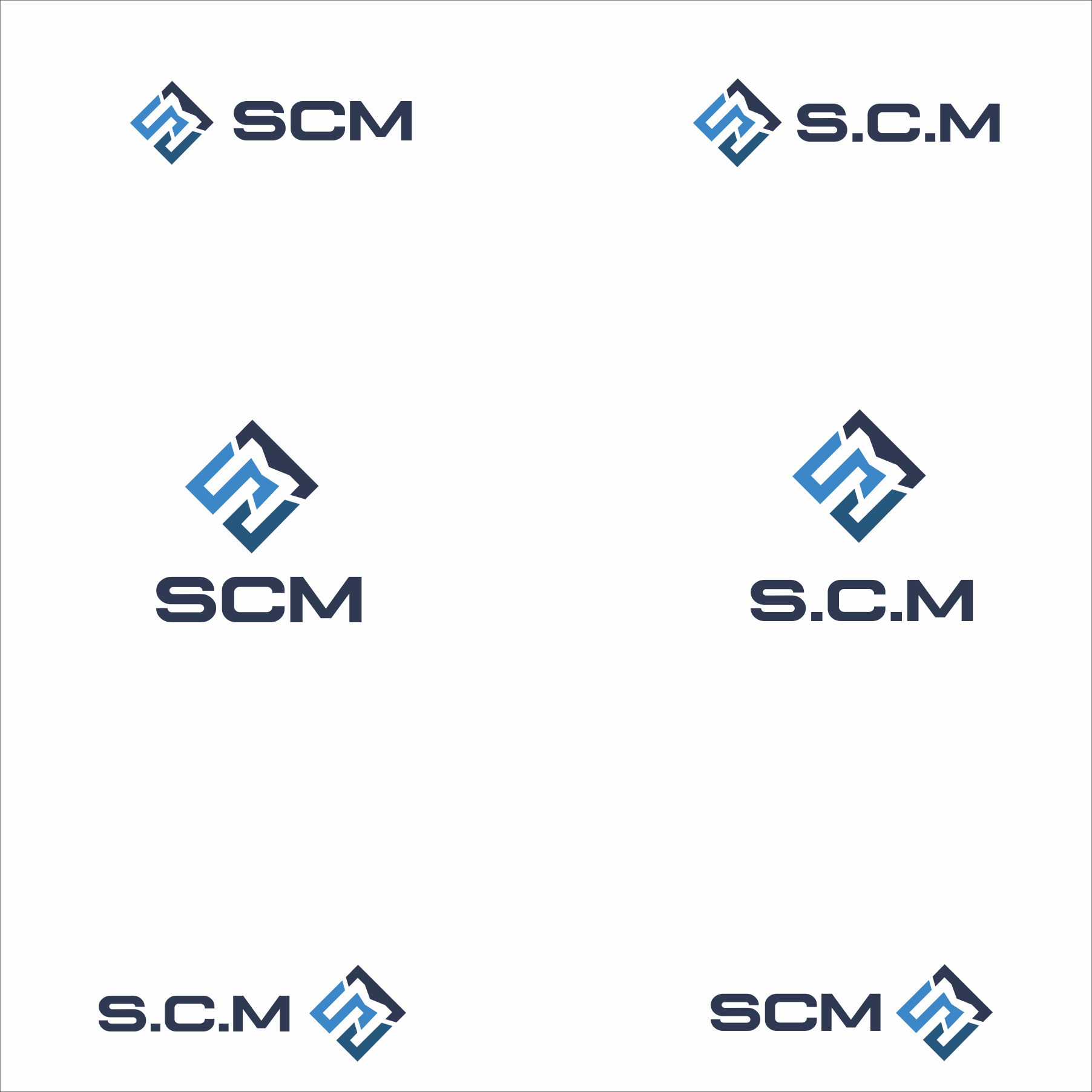 Design a logo for S.C.M - a precision micromachining specialist