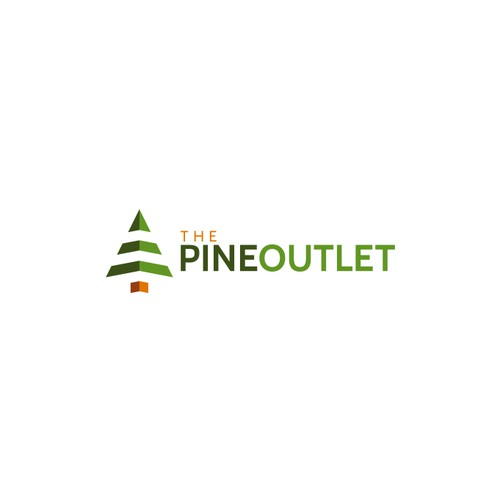 Logo concept for The Pine Outlet