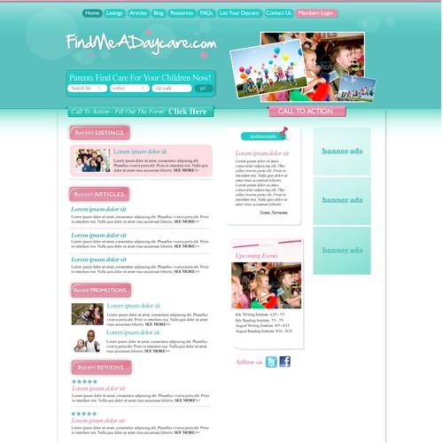 寻找创意清洁主页设计。