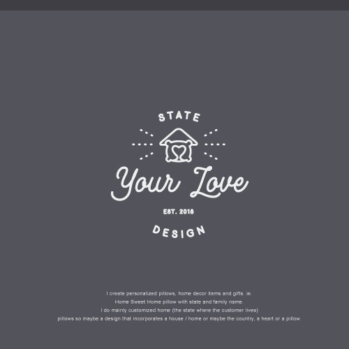 """The logo design concept for """"State Your Love Design"""""""