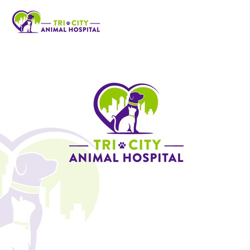 Logo and complete brand identity for a veterinarian practice.