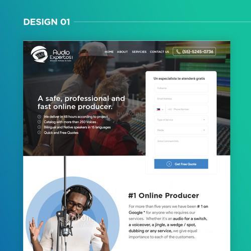 Audio Company - Landing Page